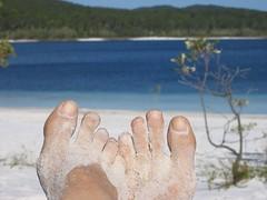 My Feet at lake McKenzie