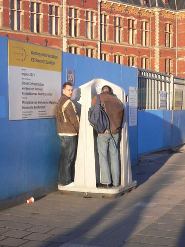 Urinarios públicos en Amsterdam