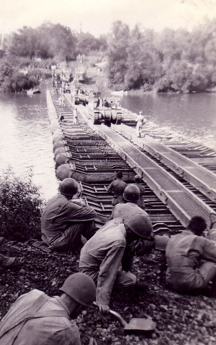 """First Tanks Across Bridge"" from historian505th on flickr"