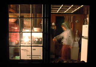 peeping through the cottage window