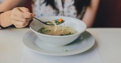 """Die Suppe. Die Suppen. Eine Frau isst hier Suppe aus einer Schüssel. • <a style=""""font-size:0.8em;"""" href=""""http://www.flickr.com/photos/42554185@N00/31275493403/"""" target=""""_blank"""">View on Flickr</a>"""