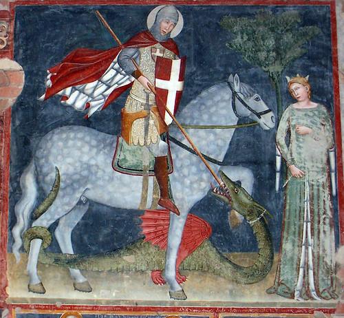 San Jordi uccide il drago e salva la principessa