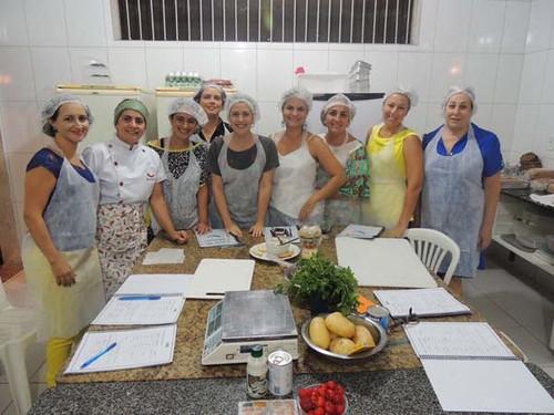 Um dos grupos de aprendizes