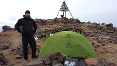 On the summit of Jebel Toubkal
