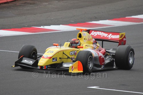 Sean Gelael in the Formula Renault 3.5 Saturday Race at Silverstone