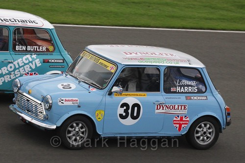 Laura Harris in Mighty Minis at Donington Park, October 2015