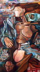 Giuditta, tecnica mista su tela, 50×100 2008