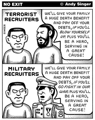 Andy Singer's No Exit: Recruiting