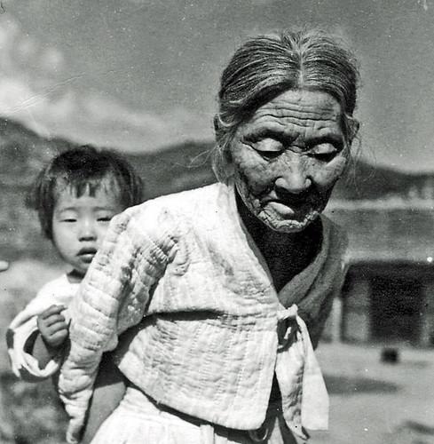 Korean Grandmother and Baby
