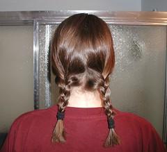 Steff's cute braids and short hair