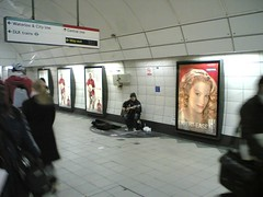 The first good busker i've seen at a tube stat...