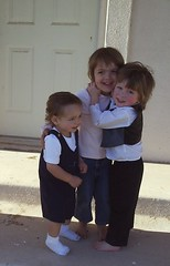Summer, Brody and Audric Hug