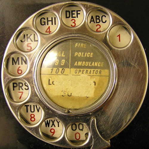 telephone dial by Leo Reynolds.