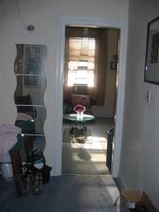 Closet before- looking toward living room
