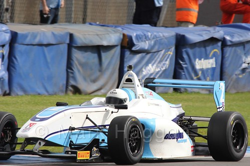 Douglas Motorsport's Akhil Rabindra in BRDC F4 at Donington Park, September 2015