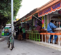 Walking through the centro of Tapachula there were five seat tiendas packed into the streets selling smoothies, grilled chicken, tacos, and just about everything else. #theworldwalk #travel #Mexico