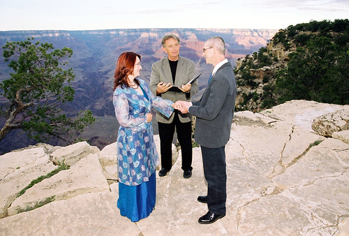 Our Wedding Ceremony, Grandeur Point, Grand Canyon