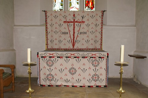 North Cerney, Gloucestershire - high altar lenten array