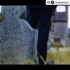 #Repost @brokenhare was never told the relevance of them. Just told what to make. This time it was the gravestones. With help from John snr, Dan jones @fablabcardiff #sherlock #benedictcumberbatch #props #gravestone #cnc #painteffect #sherlockholmes #sher