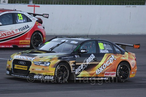 Rob Austin in BTCC at Rockingham 2015