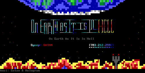 On Earth As It Is In Hell - logon ANSI