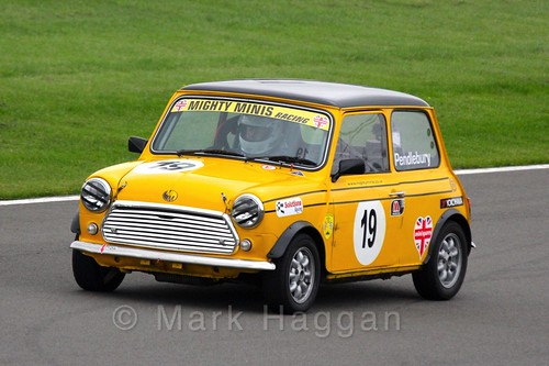 Craig Pendlebury in Mighty Minis at Donington Park, October 2015