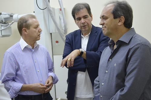 José Maria Facundes, Mauro Oscar Lima e Luciano Araújo - Instalações da Unidade de Oncologia do Hospital Márcio Cunha - Foto Emmanuel Franco  (3)