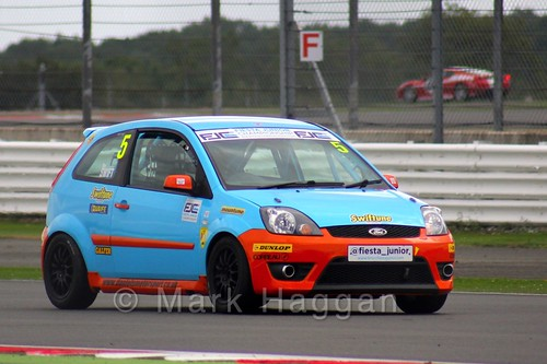 Ben Swift in the BRSCC Fiesta Junior Championship at Silverstone, August 2015