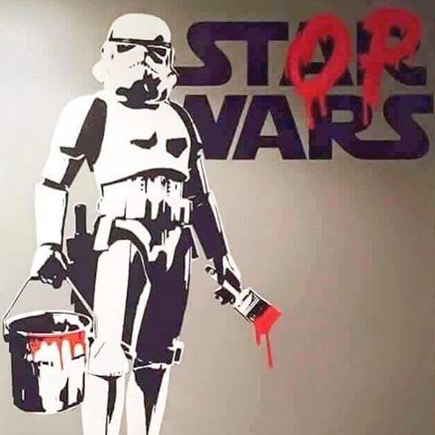 #STOPWARS  #STARWARS #stormtrooper