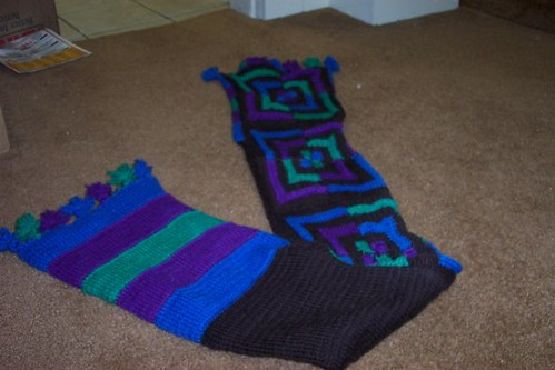 Front and Back of First Scarf