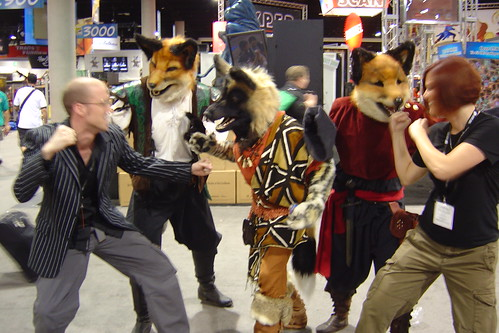 ... fight off the Furry trio of foxes by jillallyn