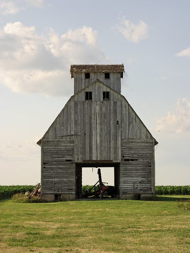 Untitled [Crib, South elevation, near Rockwell City, Iowa] by Matt Niebuhr