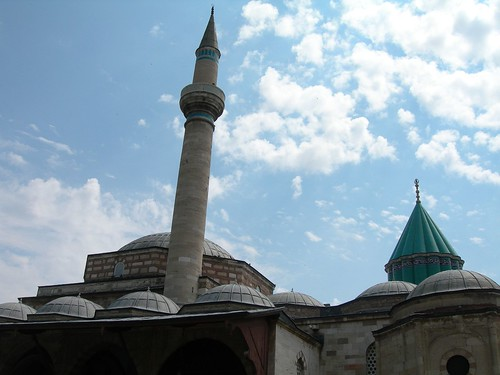 Rumi's tomb and minaret