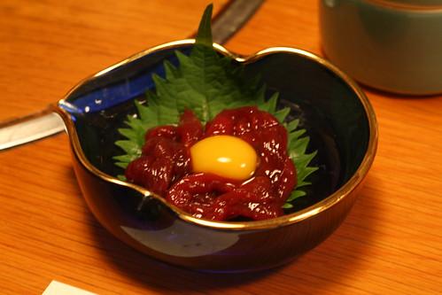 Minke whale sashimi @ Fugu Itou - Ginza - Tokyo