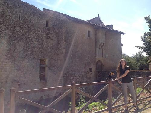 Un peu de nostalgie devant le chateau de Chiré, où nous sommes déjà passés l'année dernière !