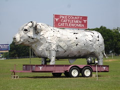 Pike County Cattlemen and Cattlewomen Bull Sculpture, Pike County (on Hwy 231/Troy Highway) AL