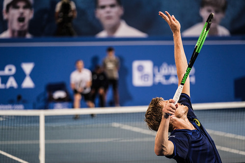 """Andy Goffin Serve's to defeat Andy Murray • <a style=""""font-size:0.8em;"""" href=""""http://www.flickr.com/photos/125636673@N08/31952970666/"""" target=""""_blank"""">View on Flickr</a>"""