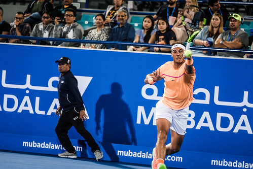 """Rafael Nadal struggles to return Milos Raonic's Service • <a style=""""font-size:0.8em;"""" href=""""http://www.flickr.com/photos/125636673@N08/31873174101/"""" target=""""_blank"""">View on Flickr</a>"""