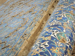 Old Blue mosque tile decoration details - Tabriz, Iran