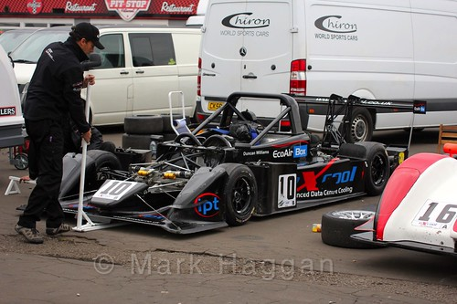 Duncan Williams car in the paddock at the Excool OSS Championship at Donington Park, October 2015