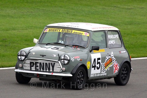 Penelope Jones in Mighty Minis at Donington Park, October 2015