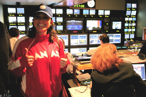 Inside the CBC Truck.