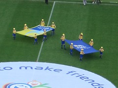 FIFA-Fahne und Fairplay-Fahne