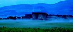 Beaumaris Castle in the mist