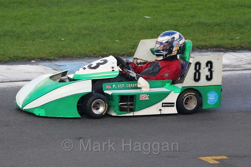 Paul Von Gerard in his F1 Honda in Superkart racing during the BRSCC Winter Raceday, Donington, 7th November 2015