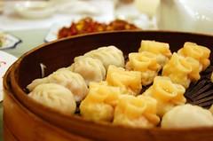Steamed shrimp and rabbit dumplings