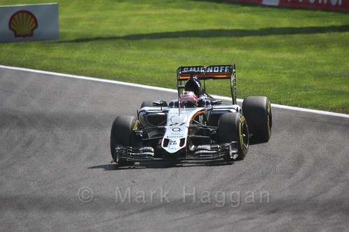 Nico Hulkenberg in qualifying for the 2015 Belgium Grand Prix