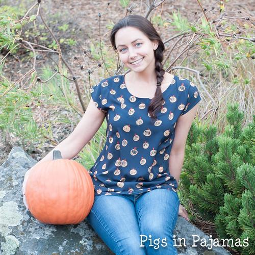 Sprout Patterns Pumpkin Zippy Top
