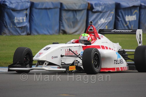 Lanan Racing's Rodrigo Fonseca in BRDC F4 at Donington Park, September 2015