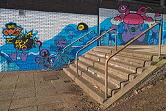 """Below the Rivergate Mall - Irvine Street Art by Tragic O'Hara • <a style=""""font-size:0.8em;"""" href=""""http://www.flickr.com/photos/25613911@N00/33127318402/"""" target=""""_blank"""">View on Flickr</a>"""